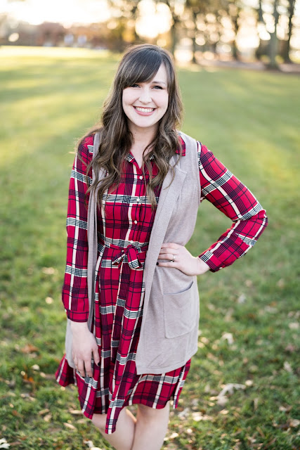red plaid dress everyday emily blog greenville sc blogger southern style blogger