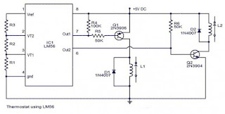Thermostat Circuit with IC LM56