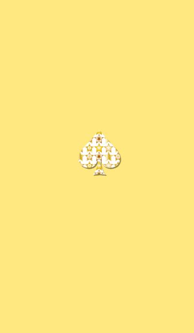 Star spade yellow