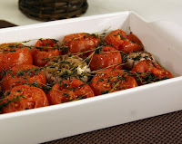 Tomates Assados com Alho e Tomilho (vegana)