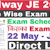 RRB JE Direct Link For Mock Test All Zone | RRB JR Exam City Exam Date