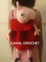 PATRON GRATIS MOCHILA PEPPA PIG DE CROCHET