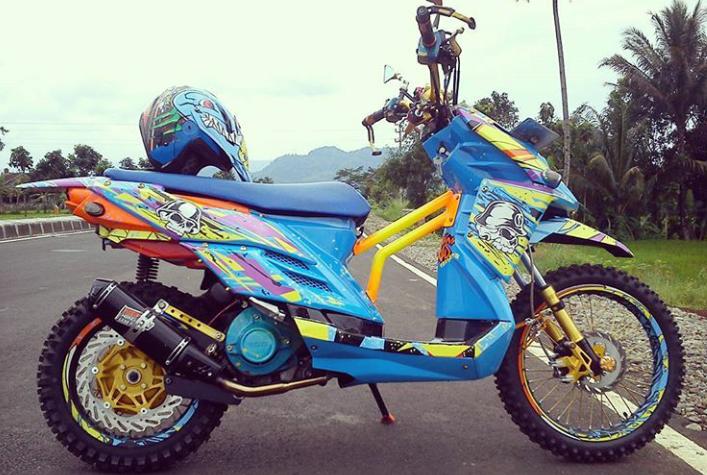 30 Gambar Modifikasi X Ride Ala Trail Paling Tangguh