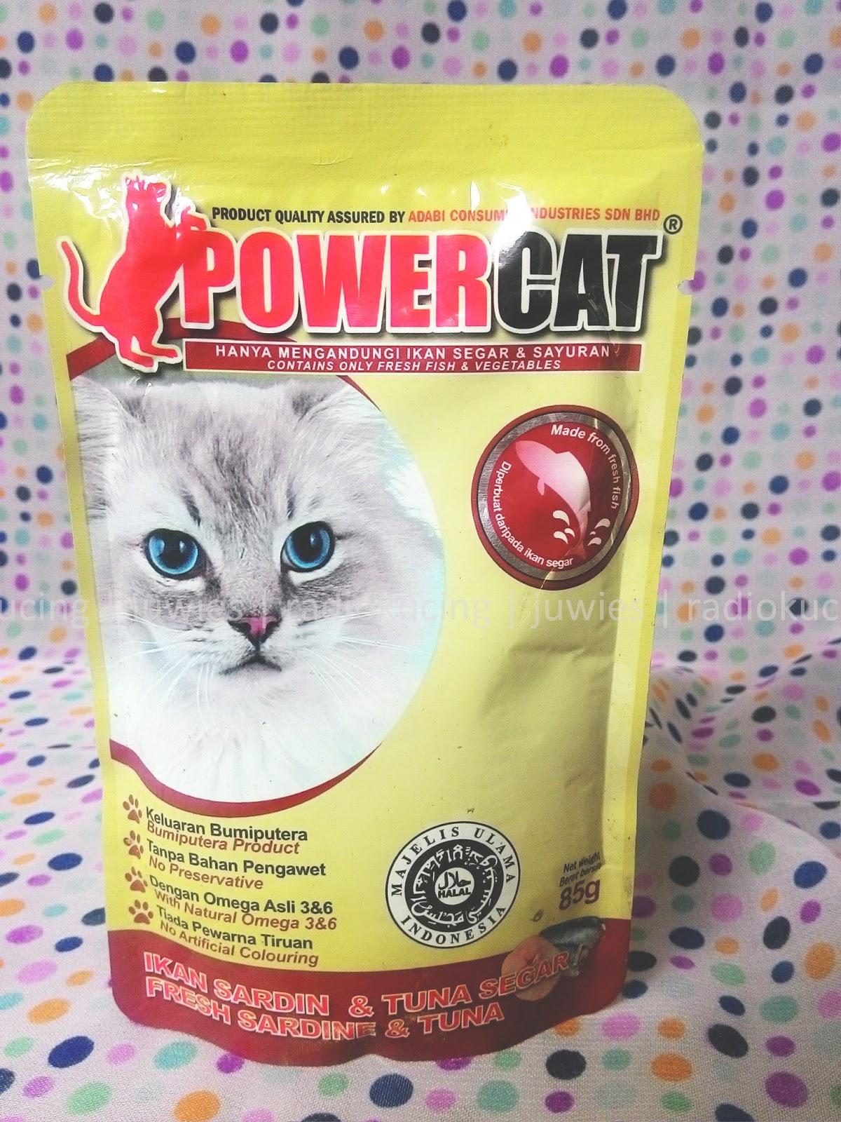 Review Makanan Kucing Basah Wet Food Power Cat Kemasan Pouch Sachet Varian Fresh Sardine Tuna Ikan Sardin Tuna Segar Radiokucing Com