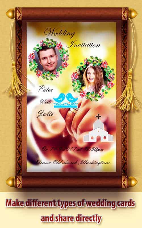 Wedding card maker app