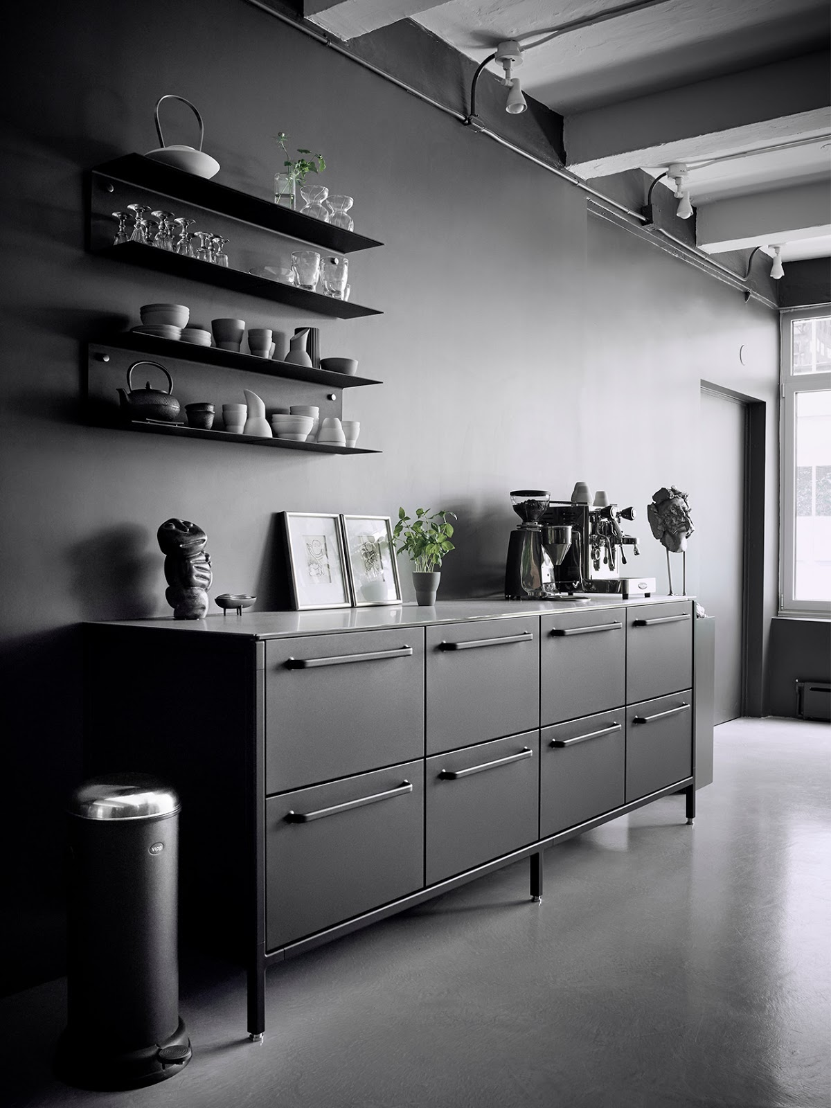 Black Industrial Kitchen