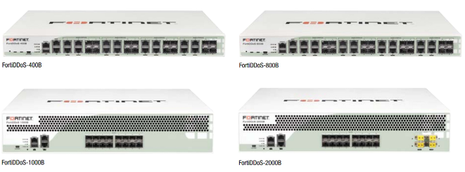 Fortinet Distributed Denial of Service (DDoS) product family