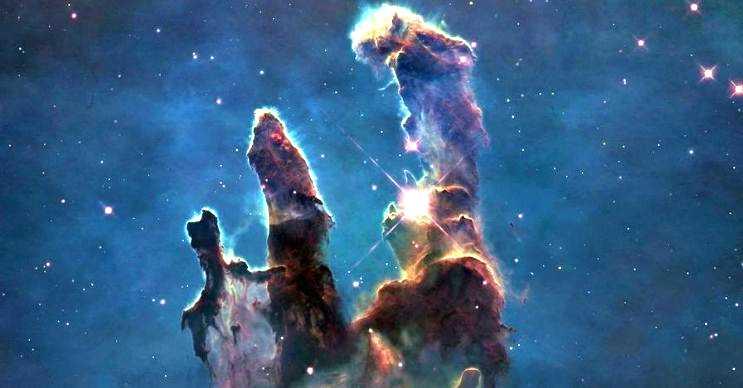 Yaratılış sütunları bir yıldız oluşum bölgesidir, dünyadan 7 bin ışık yılı uzaktadır.