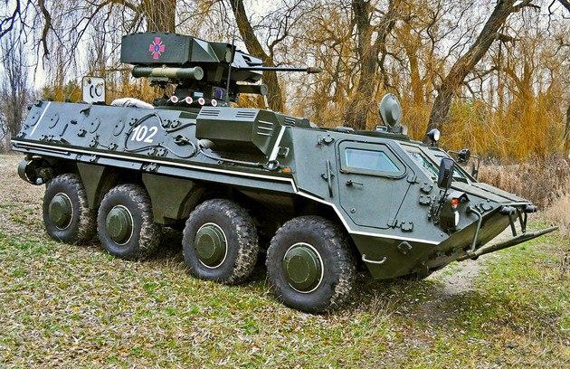 БТР-4А с боевым модулем «Гром»