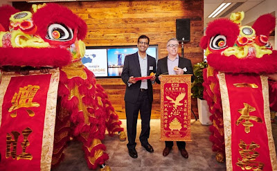 Source: HubSpot. The company held a lion dance as part of the official opening ceremony.