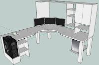 Planos para muebles de la oficina - Escritorios en L