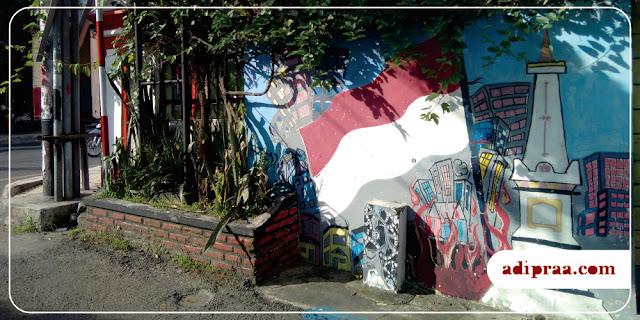 Mural Tugu Jogja di Wilayah Joyonegaran | adipraa.com