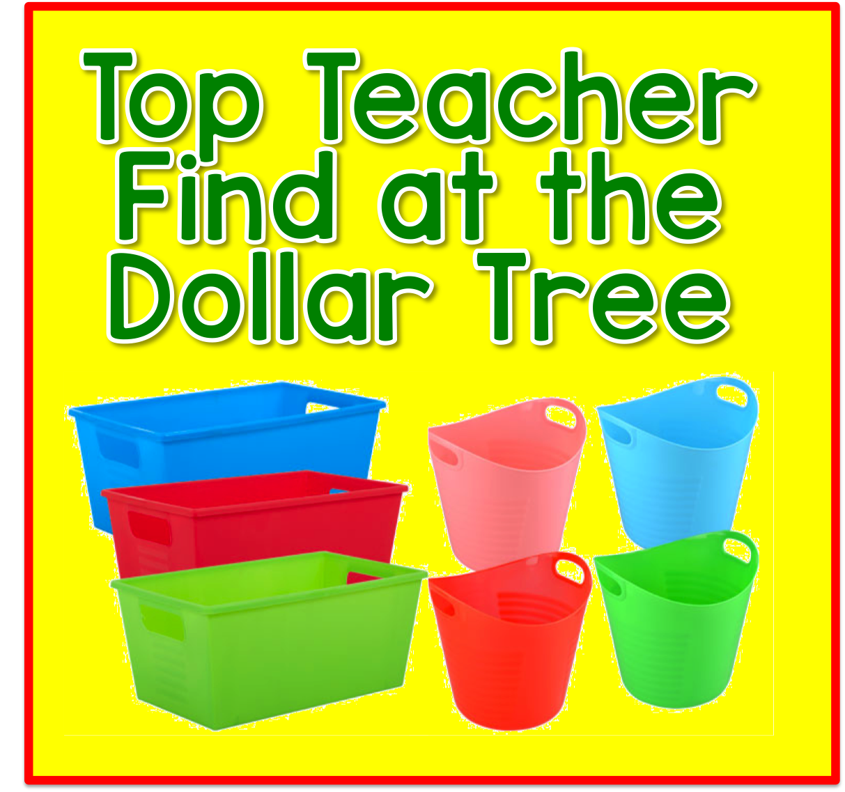 Time 4 Kindergarten: Top Teacher Finds And The Dollar Store