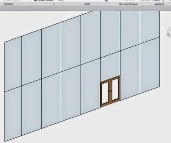 Revit 2015 - Converting a Door to a Curtain Wall Door