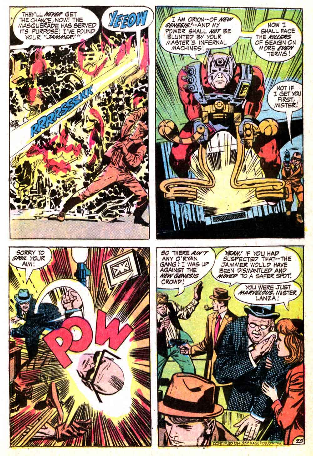 New Gods v1 #4 dc bronze age comic book page art by Jack Kirby
