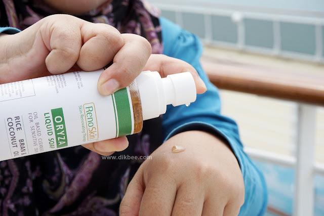 RenoSkin Oryza Liquid Soap Bantu Masalah Kulit Sensitif