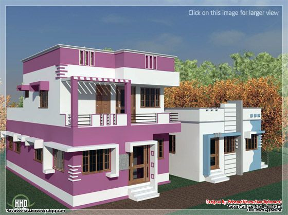 Tamilnadu model home design in 3000 kerala home for Tamilnadu house designs photos