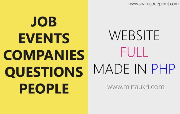 jobs events companies recruitment employment job portal website in php mysql - Php Mysql Jobs
