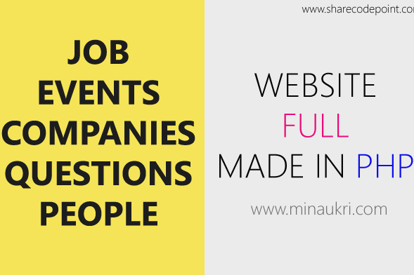 Jobs, Events, Companies, Recruitment,  Employment, Job Portal Website in PHP & MySQL