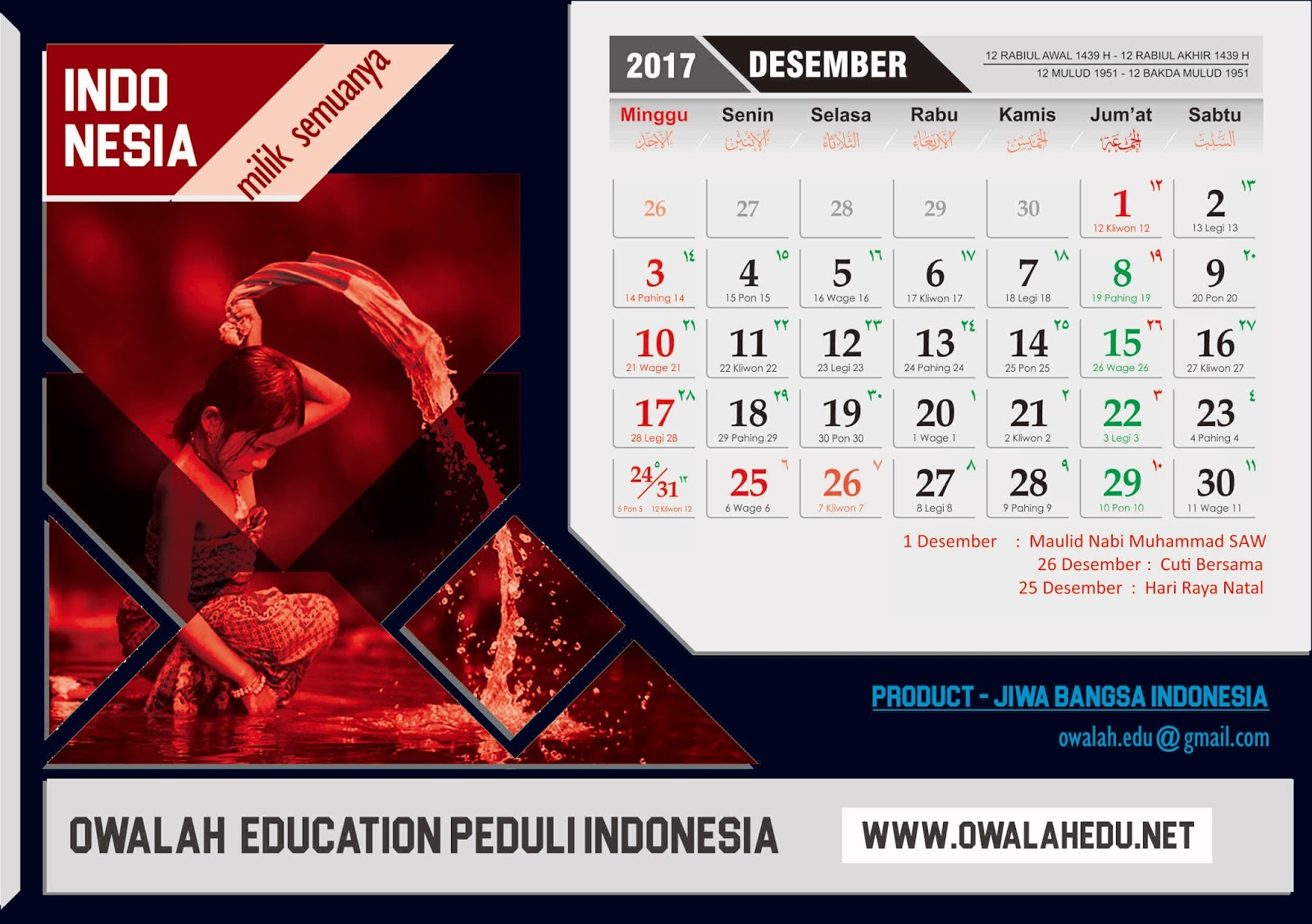 Cara membuat kalender meja best design calendar indonesia for Kalender design
