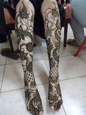 Pair ki mehndi design