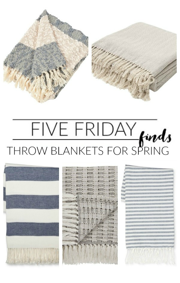 The best lightweight throw blankets perfect for spring! www.littlehouseoffour.com