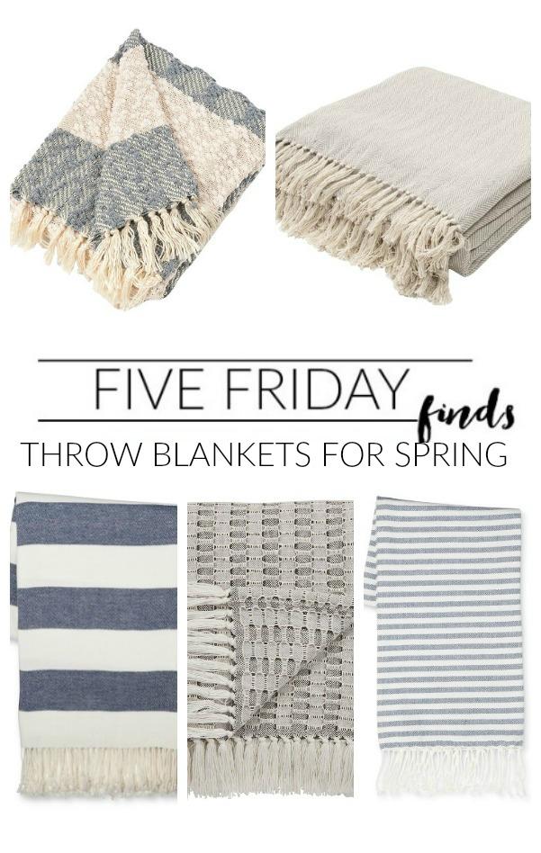 The best lightweight throw blankets perfect for spring! www.littlehouseoffour.com