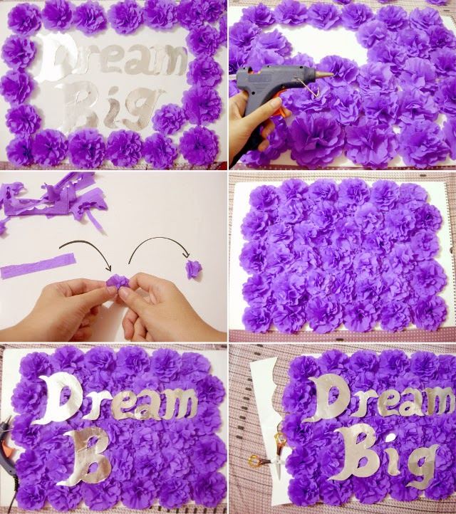 DIY How To Make Crepe Paper Flowers For Room Decoration