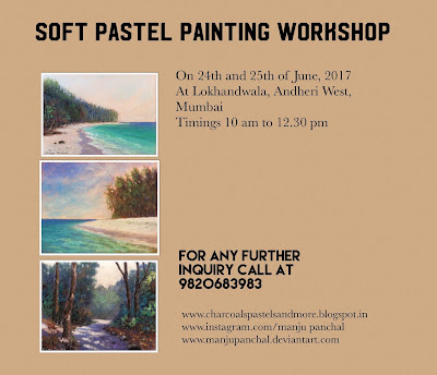 Soft pastel painting workshop on 24th and 25th of june, 2017