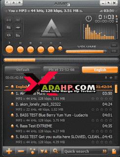 software pemutar musik aimp gratis terbaru