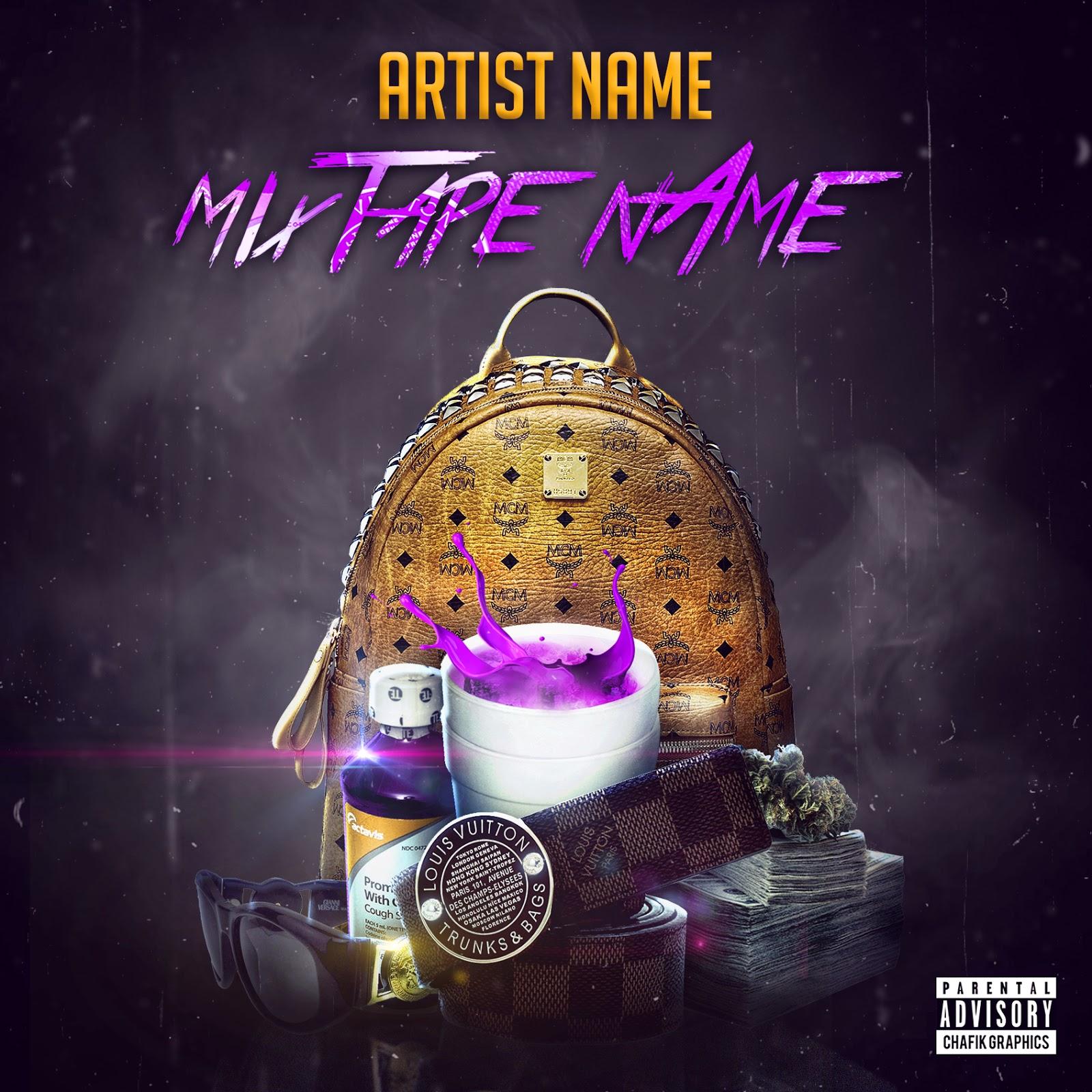 free mixtape cover template chafik graphics