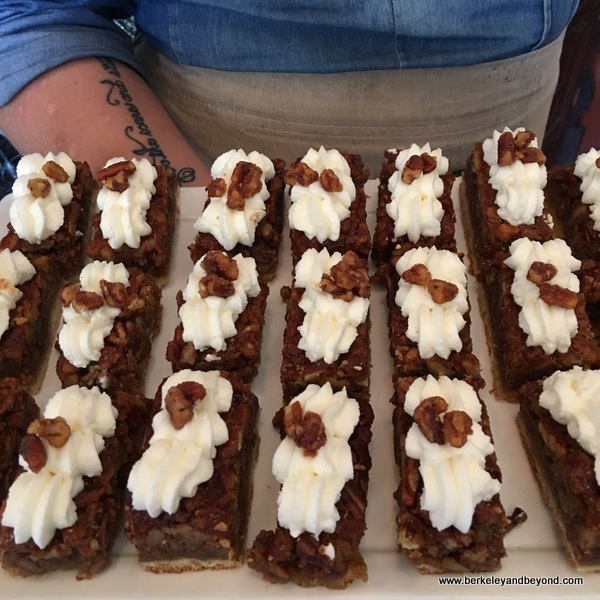 pecan pie logs at Poogan's Porch in Charleston, South Carolina