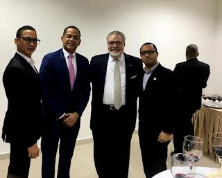 José C. Guerrero, Ilustrísimo senador Julio Cesar Valentín, Manuel Morales Lama y Andrison Sánchez