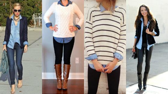 formas de usar camisa jeans