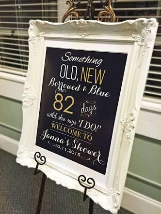alternative chalkboard bridal shower signs
