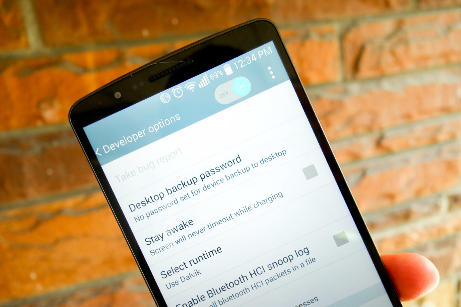 enable hidden developer option in android