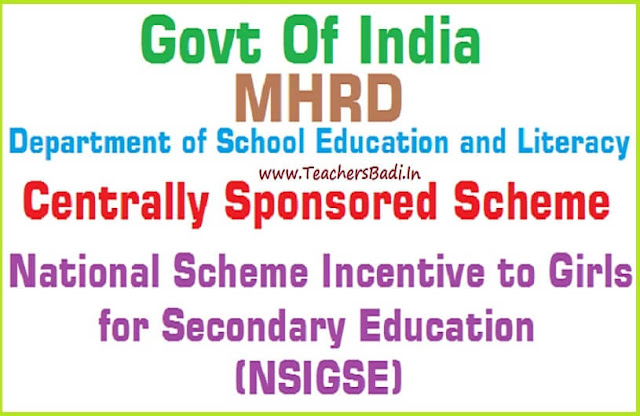 "Centrally Sponsored Scheme ""Incentives to Girls for Secondary Education"""