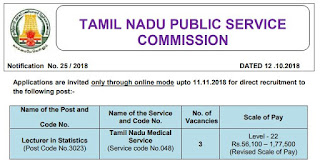 tnpsc-statistical-lecturer-post-recruitment-exam-notification-tngovernmentjobs-in