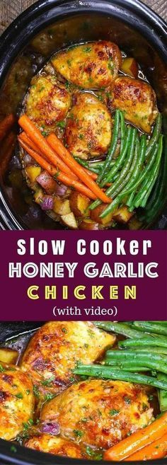 Amazing Slow Cooker Honey Garlìc Chìcken