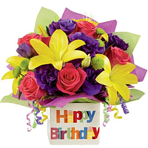 Pic Of Flowers With Happy Birthday