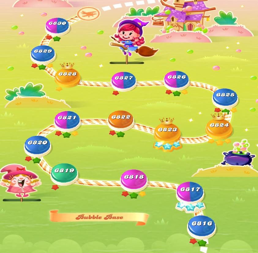 Candy Crush Saga level 6816-6830