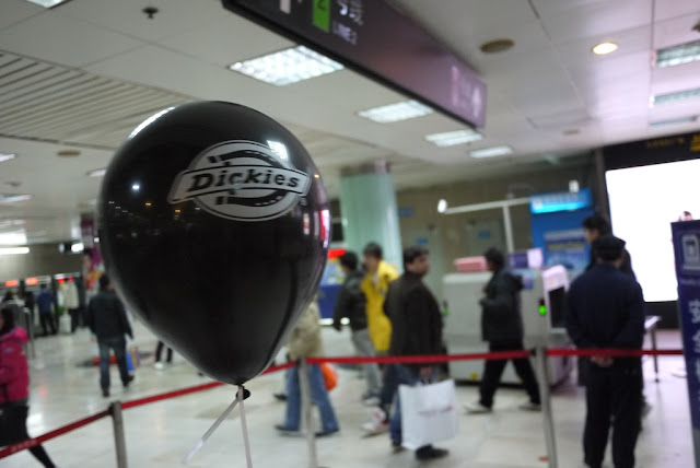 Dickies balloon in a Shanghai metro station