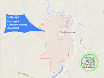 PETA :  Desa Sidajaya, Kecamatan Cipunagara
