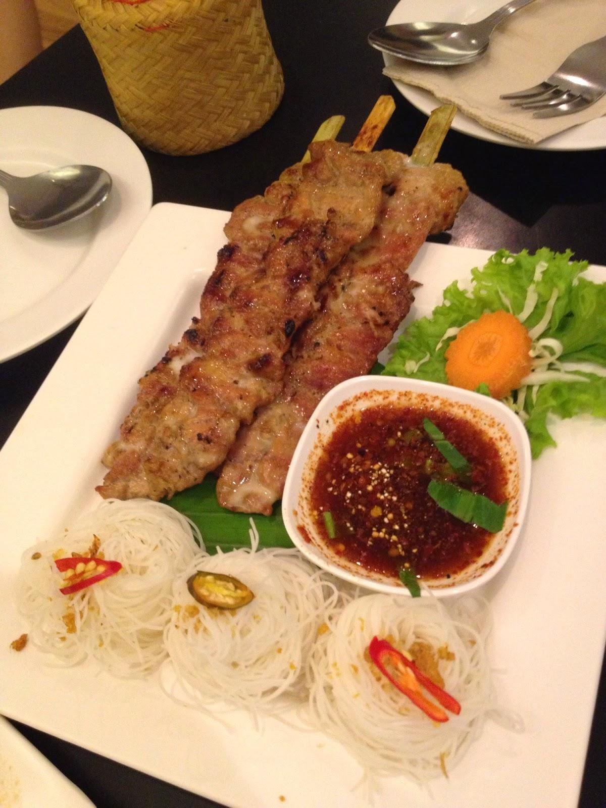 Bangkok - Coconut milk marinated pork skewers