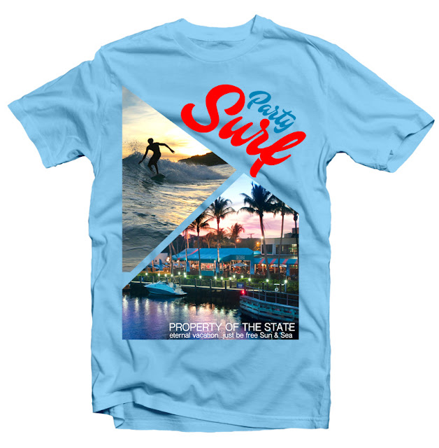 tshirt design surf