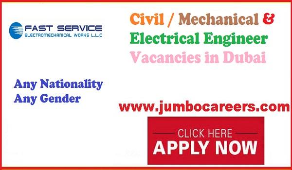 Latest Engineering jobs Listing, UAE jobs with details,