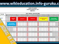 [Aplikasi] Jadwal Pelajaran Kurikulum 2013 Format Excel