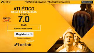 betfair supercuota 7 Atletico gana Las Palmas Liga 29 abril