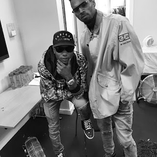 Wizkid Pictured With Chris Brown At His One Hell Of A Nite Tour