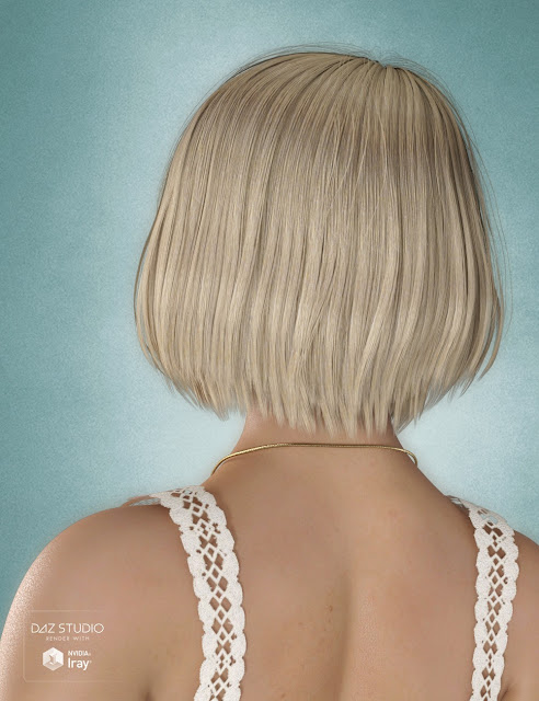 Dina Hair for Genesis 3 and 8 Female